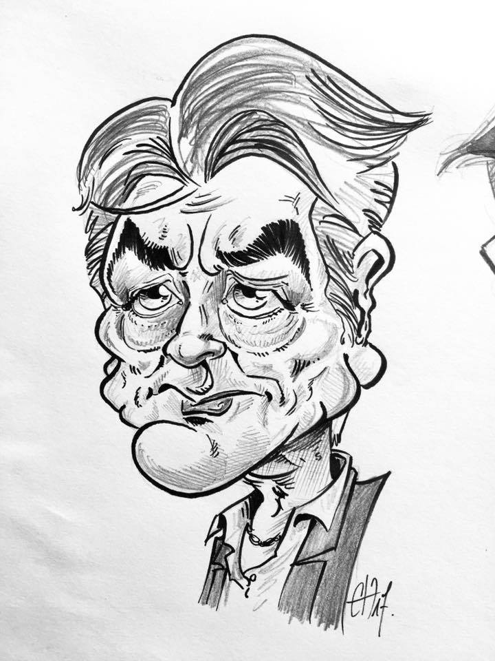 Caricature Alain Delon