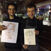 Caricatures avec mon ami Charles Da Costa