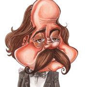 Caricature de Gustave Flaubert