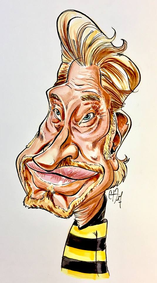Caricature, Johny Hallyday, Couleur