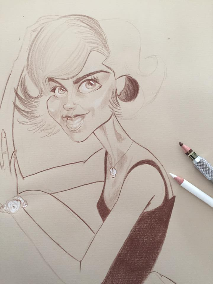 caricature Nathalie Wood