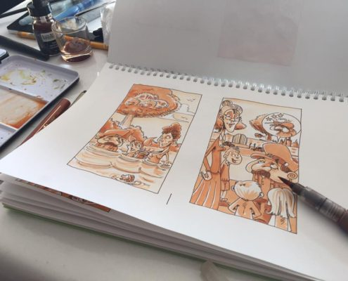 caricature, bd