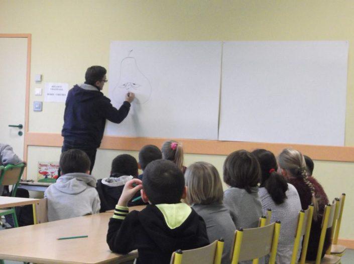 classe, école, atelier