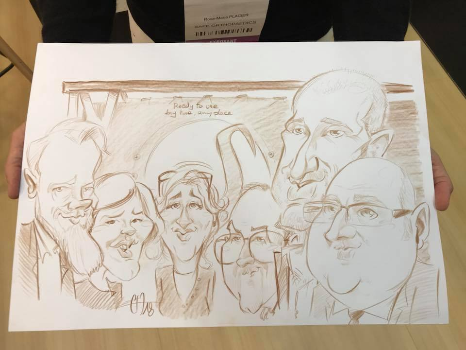 animation caricature Cité des Congrès