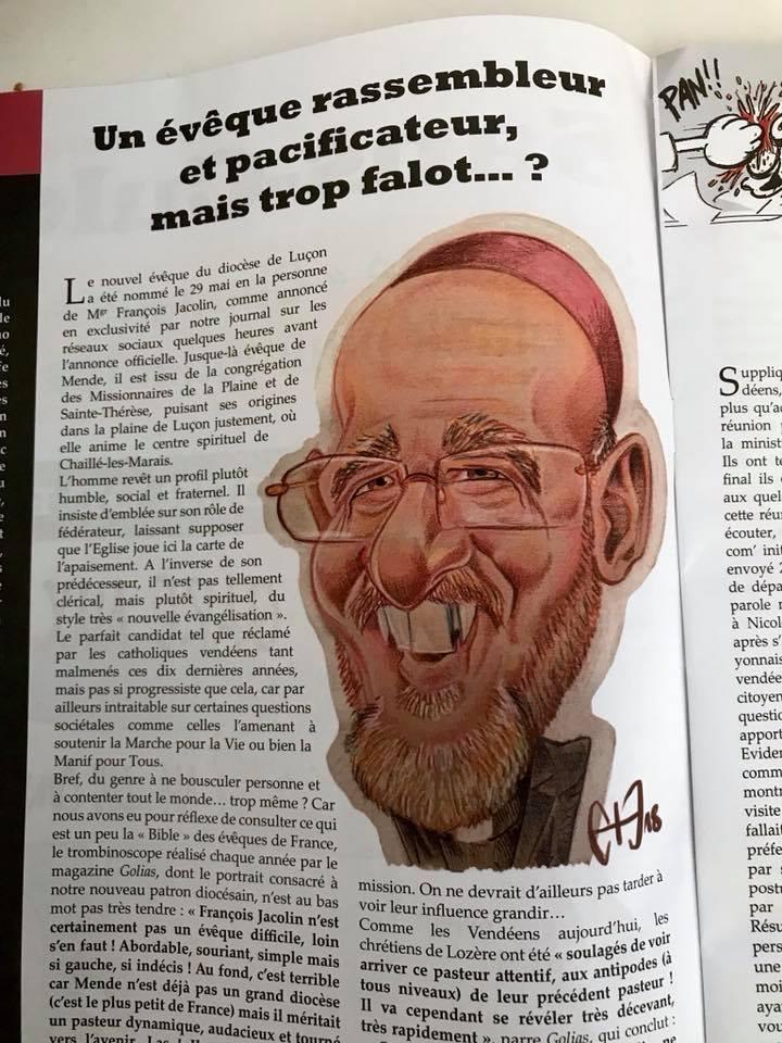 Caricature de l'Évêque Fallot